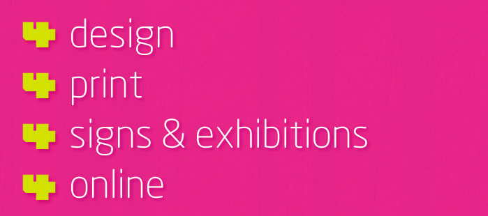 Hillside 4 design, print, signs and exhibitions, online
